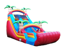 18 ft Red Tropical DRY Slide