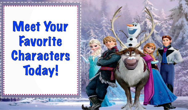 Frozen character meet and greet