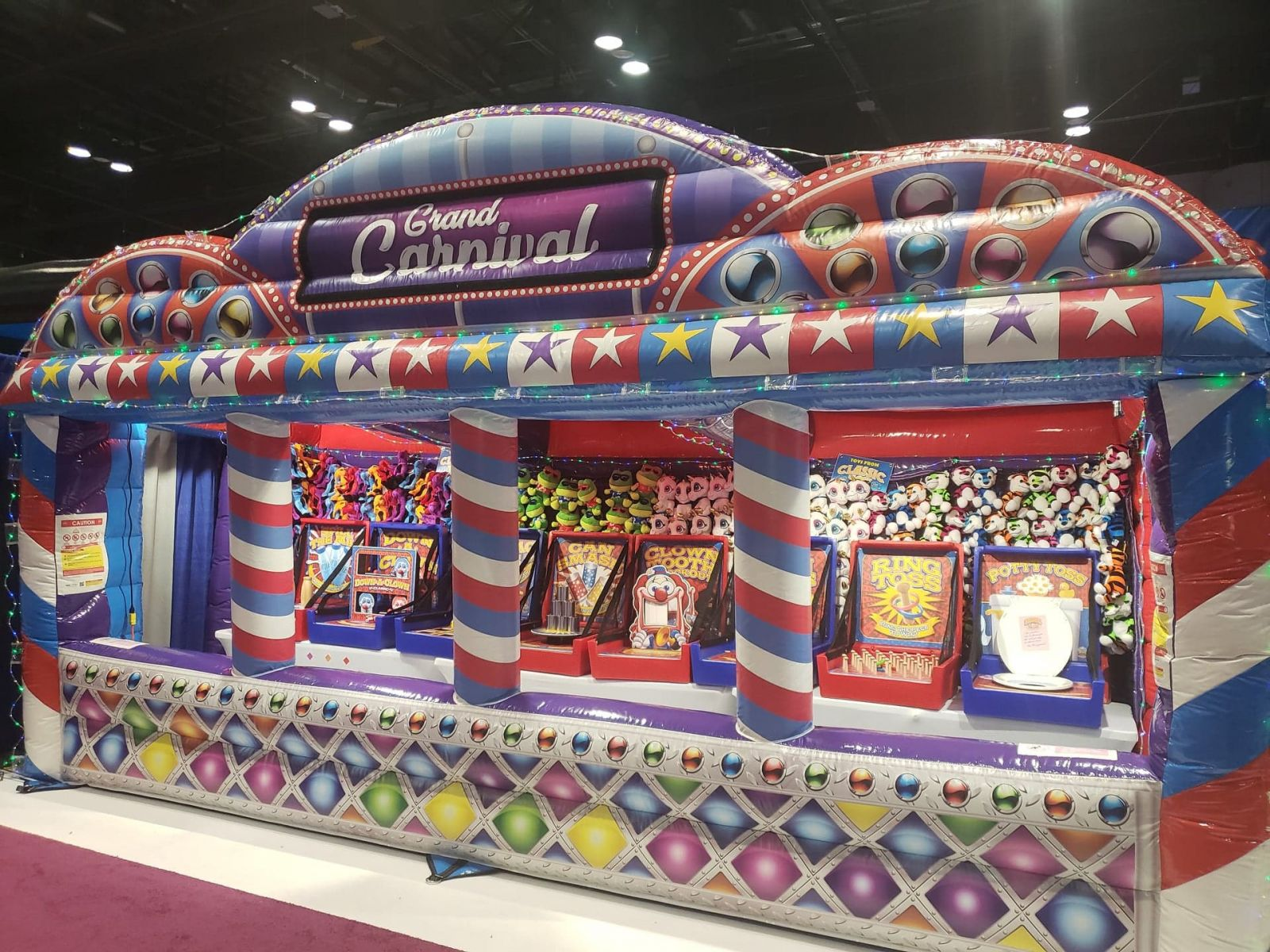 Chicago Party Place Inflatable Carnival Booth Rental