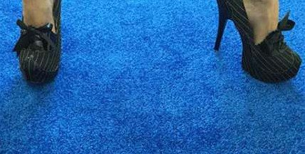12ft Blue Carpet