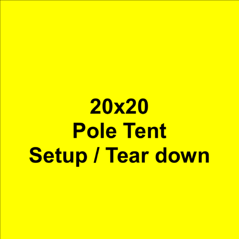 20x20 Pole Tent Setup/Teardown