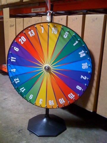 36 inch Spinning Wheel Carnival Game
