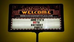 Lighted Marquee Sign
