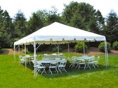 Tent, Table & Chair Package