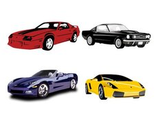 Cars (c) (various models/colors)