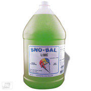 Lime Sno Cone Syrup w/50 cups