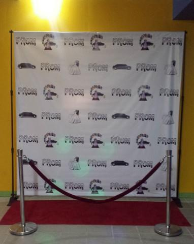 Prom Step and Repeat Backdrop w/Frame