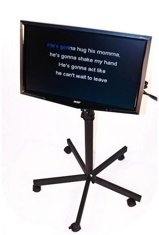 Karaoke television (on stand)