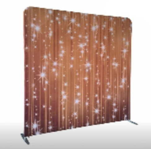 Photo Backdrop - Gold with stars
