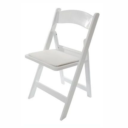 Padded Garden Folding Chairs (White)