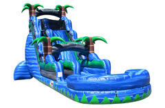 22' Blue Crush Inflatable Water Slide with pool