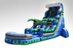 22' Tsunami Inflatable Water Slide with pool