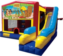 7-in-1  Luau Themed Inflatable