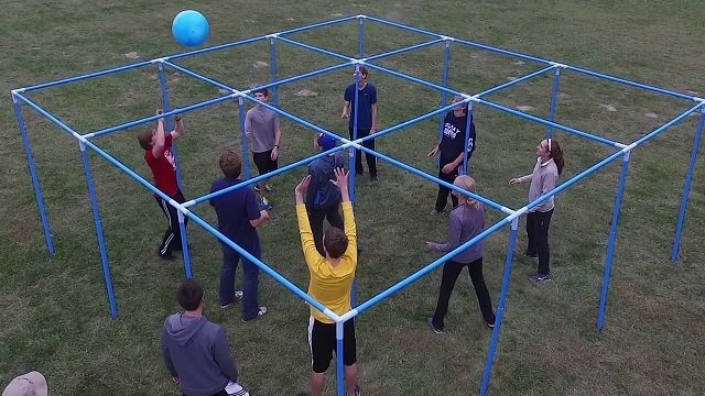 9 square Volleyball