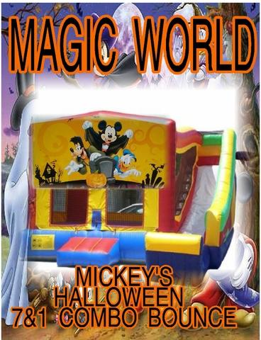 11. mickey's halloween combo bounce and slide