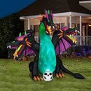 Gemmy Airblown Inflatable Animated Three Headed Dragon