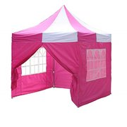 PINK AND WHITE POPUP TENT