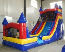 18 ft MULI COLORED PANEL WATER SLIDE