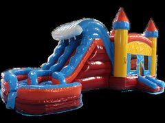 1-WAVE BOUNCE COMBO WITH WATER SLIDE