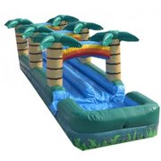 Dual Lane Paradise Slip n Slide with Pool