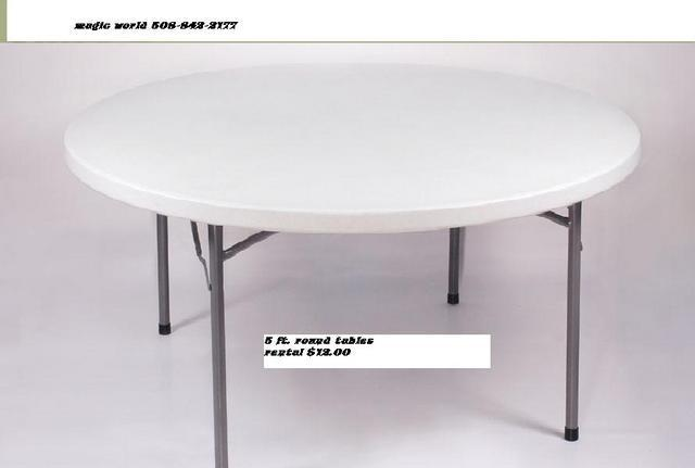 5 FT. ROUND TABLE