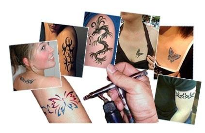Air brush tattoos