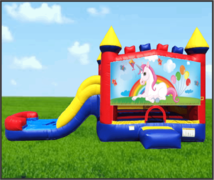 Unicorn 4 in 1 Combo Waterslide
