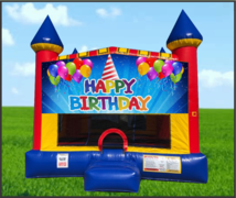 Happy Birthday Hat Large 15 x 15 Castle Bouncer