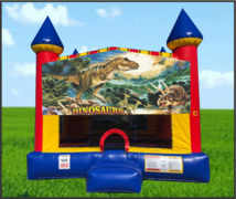 Dinosaur Large 15 x 15 Castle Bouncer