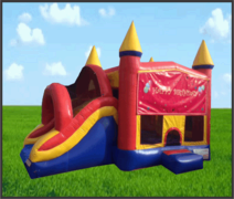 Happy Birthday 5 in 1 Combo Castle Slide