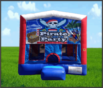 Pirate Fun House Patriotic 13x13 Bouncer