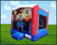 Sports Fun House Patriotic 13x13 Bouncer