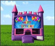 Pink Castle Happy Birthday Hat