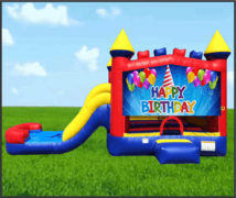 Happy Birthday Hat 4 in 1 Combo Waterslide