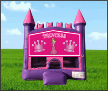 Pink & Purple Princess Castle Bouncer 13x 13
