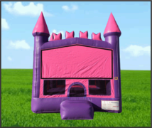 Pink & Purple Brick Castle Bouncer 13x13