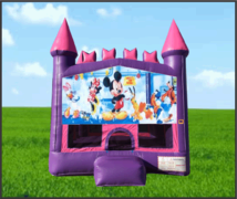 Pink & Purple Micky Club House Castle Bouncer