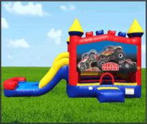 Monster Truck 4 in 1 Combo Waterslide