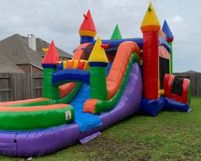Rainbow Castle Combo Water Slide