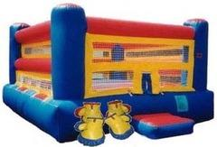 Boxing Ring w/Huge Gloves Smaller Ring