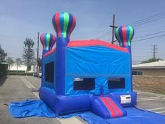 Extra Large Blue & Red Balloon Spacewalk with basketball goal