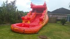 14FT Red Marble Fish Waterslide