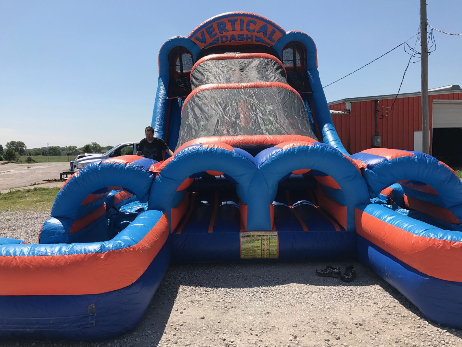 Vertical Dash Inflatable Rental Water Slide Combo