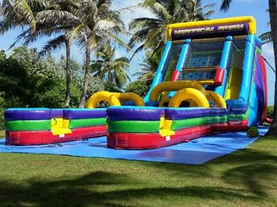 Vertical Rush Slide & Obstacle Course