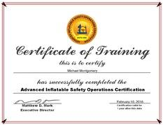 SIOTO Train Certificate