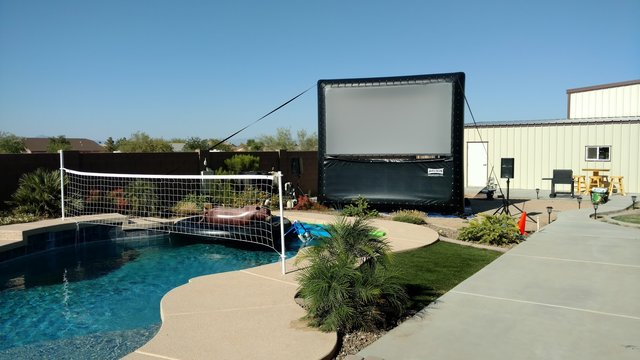 12' Backyard Screen with Rear Projection