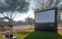 12' Backyard Movie Screen