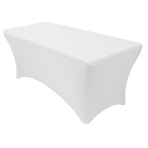 White Spandex 8' Table Cover