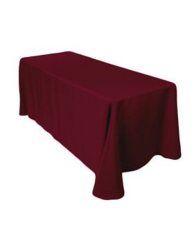 6' Tablecloth- Burgundy