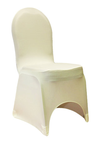 Ivory Spandex Banquet Chair Cover